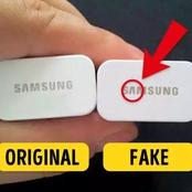 How A Fake Phone Charger can be easily identified.