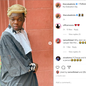 Cute Abiola's Girlfriend Jokingly Reacts To His Photos On This Attire