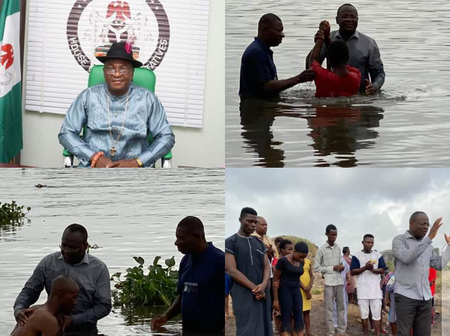 Photo of House Of Representatives Member From Udu Constituency Baptising People Emerges Online