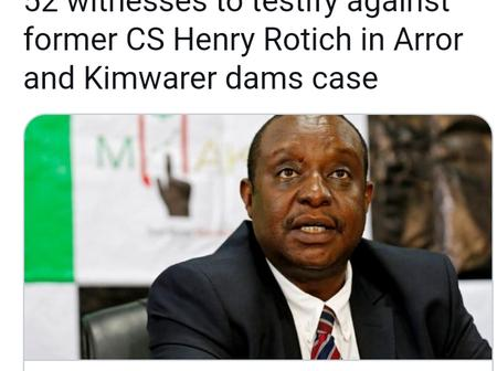 Former Finance CS Henry Rotich in Trouble as 52 witnesses are Set To Testify Against Him.