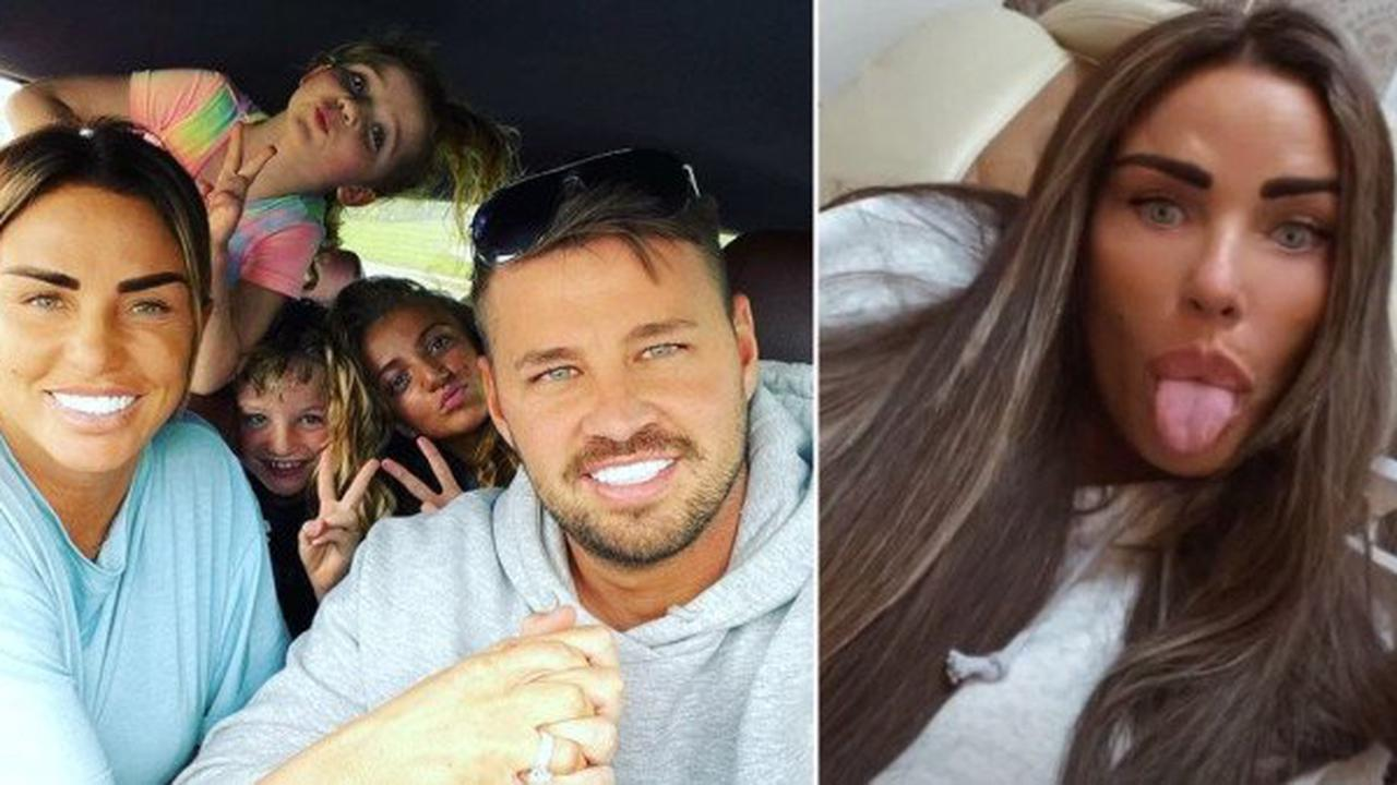 Katie Price gives fans peek at family holiday with fiance Carl Woods