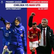 English Premier League Fixtures For Today As Chelsea Host Manchester United
