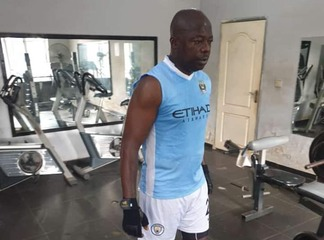 Nasarawa United Chairman Isaac Danladi stirs controversies after spotting Man City kits in Work-out