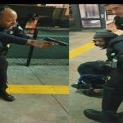 Breaking News: A very sad video of south African police officers Assulting a man on a wheelchair