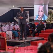 President Uhuru's Speech Sends a Strong Message to Kenyans at Waititu's Burial Service