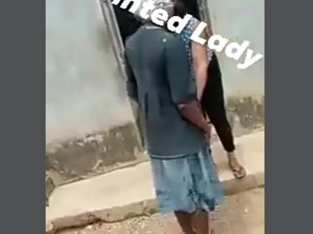 Video: Lady Searched Suspected Female Thieves And Recovered Stolen Items Under Their Dress
