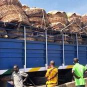Trucks Loaded With Food Are Seen Moving To The South.