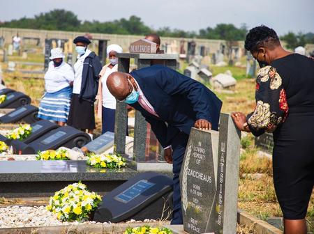 David Makhura Visits The Fallen Human Rights Warriors In Their Sleep
