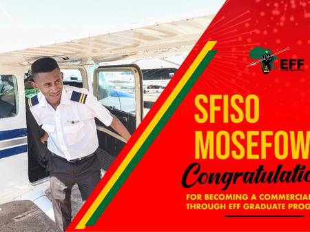 EFF funded students finally becomes a qualified Pilot.