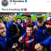 Fans react after Barcelona player gathered around Messi all smiles after reaching Copa Del Rey final