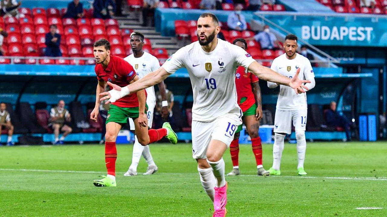 France - Portugal : Benzema marque enfin, les bleus leaders à la pause
