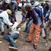 Man Badly Beaten by Angry Mob After He Slaughtered His Close Relative Who Refused To Sleep With Him