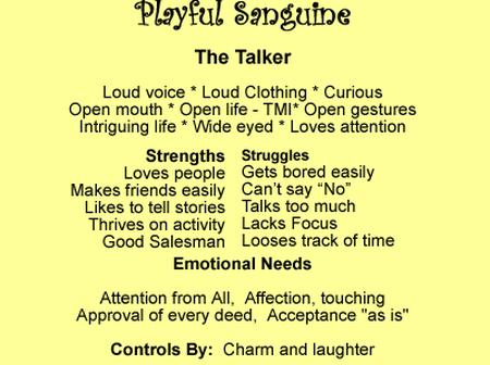 Temperament traits sanguine Sanguine temperament:
