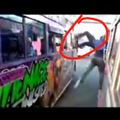 See What This Kenyan Conductor Was Spotted Doing On A Moving Matatu That Has Got Netizens Talking