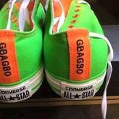 Cette chaussure All star aux couleurs nationales et à l'effigie de Laurent Gbagbo fait le buzz