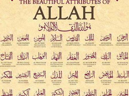 Religion: See the all the 99 names of Allah and their meanings.
