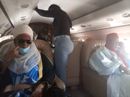 Sheikh Dahiru Bauchi and Son Departs from Abuja to sokoto State [Photos]