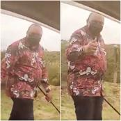 Rare Video of Uhuru Strolling on Road Holding a 'Rungu' With no Security Team Emerges Online