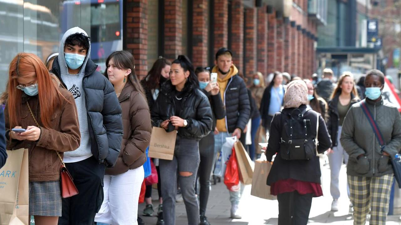 City centre queues as shops, hairdressers and restaurants reopen