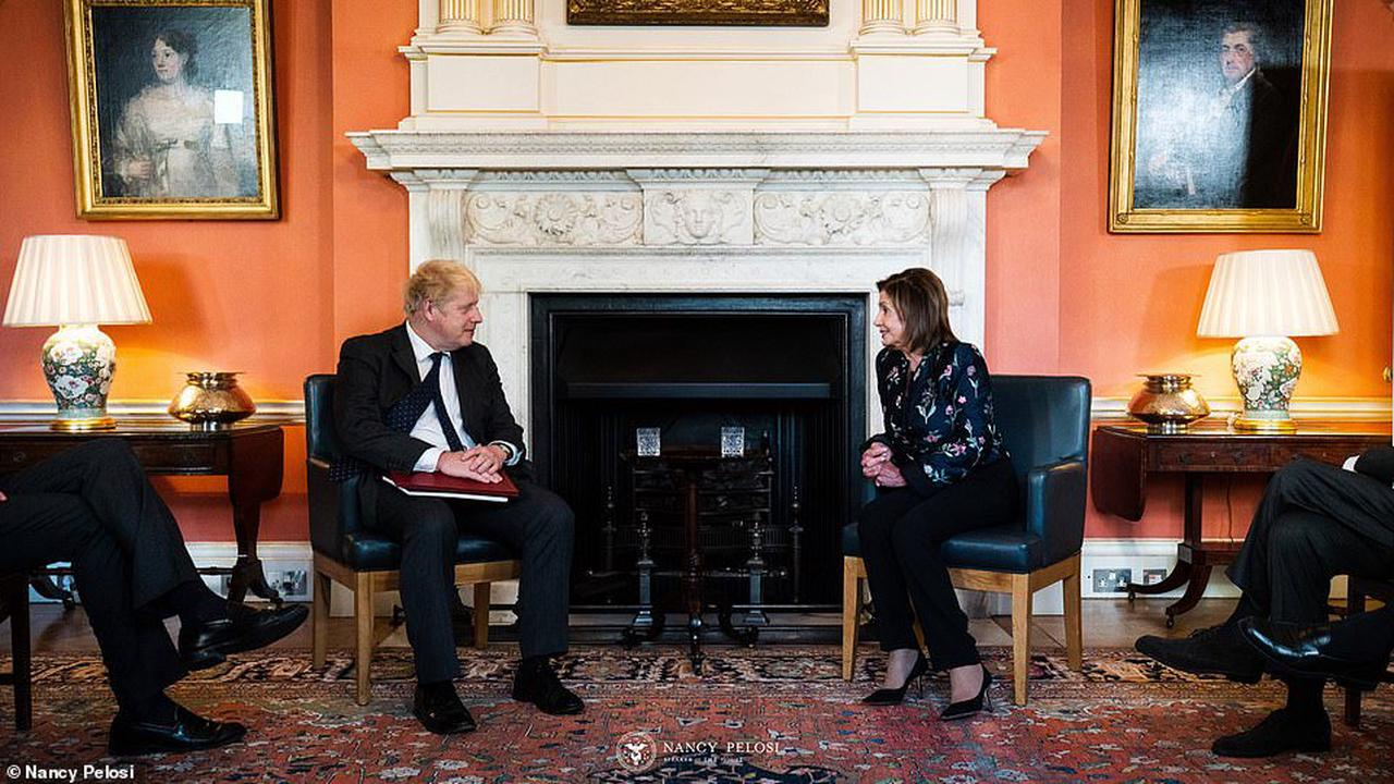 House of Representatives Speaker Nancy Pelosi warns Britain there will be NO US trade deal unless row with EU over Northern Ireland protocol can be solved