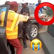 Video: Nigerian Policeman Falls Off A Bridge While Trying To Arrest A Man