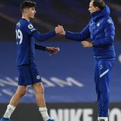 Tammy Abraham reacts to Kai Havertz's statement after inspiring Chelsea to 2-0 victory (Photos)