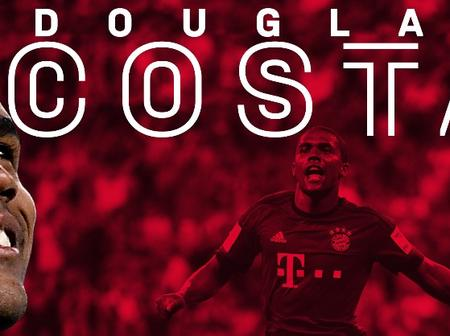 Done Deal As Bayern Completes Signing Of Douglas Costa, Man United Set To Sign Championship Star