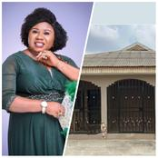 Nigerian Singer Esther Igbekele Completes Her House, Congratulations To Her.