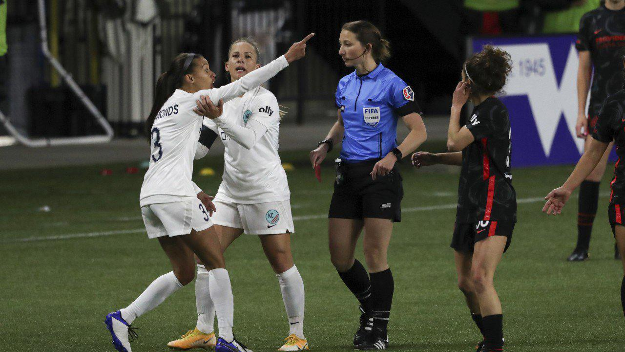KC NWSL forward Kristen Edmonds issued fine, suspended 2 games