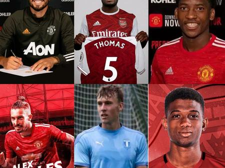 Transfer Window Closes: Arsenal Sign 2 Players, Man United Sign 4 Players Today