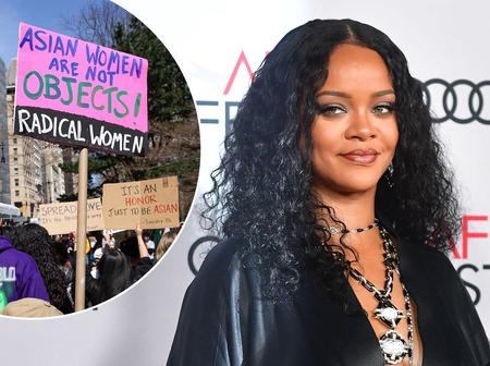 Rihanna Joined The Anti-Asian Protest In New York