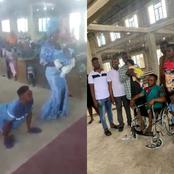 After A Lame Man Got The Attention Of Many During His Baby's Dedication, Read What A Man Did For Him