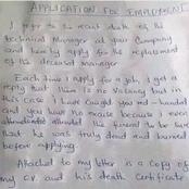 ILLITERACY IS A DISEASE! See An Application Letter a Graduate Wrote in Search For a Job.