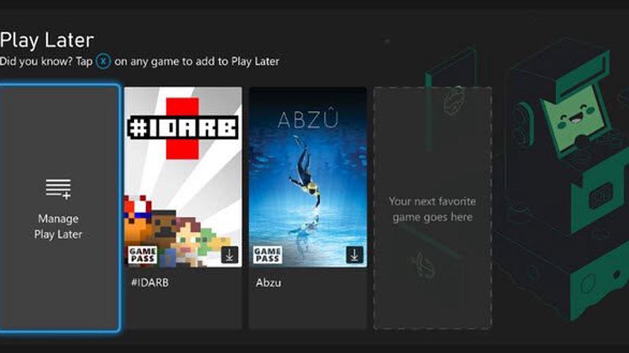 Xbox: September-Update bringt den neuen Edge und eine ToDo-Liste für Spiele