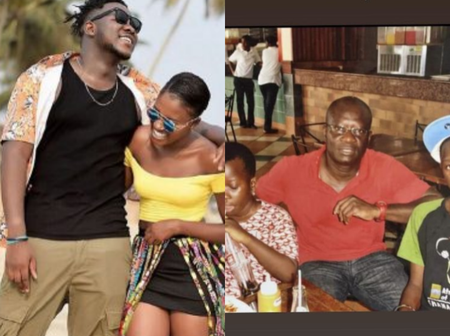 Rapper Medikal shares rare photo of himself with his sister and dad