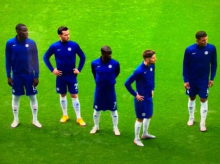 Here is what Frustrated Chelsea players ahead of Crystal Palace kick off, before thrashing them 4-0.