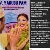 Tonto Dikeh speaks after the Christian Pilgrim Commision denies her appointment as Ambassador.