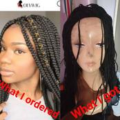 Her Sister Ordered A Braided Wig Worth N53,400, See What Was Delivered That Sparked Reactions
