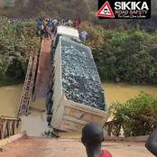 Kenyans React To A Photo Of A Trailer That Broke The Bridge.
