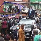 Online Uproar After This Photo of Uhuru Addressing Nyeri Residents Surfaces Online