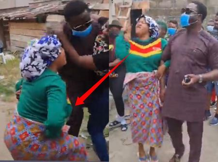 The Moment Toyin Abraham Saw Mercy Johnson's Husband, Take A Look At What She Did (Video)