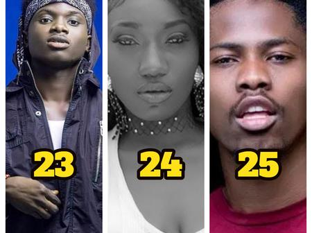Top Ghanaian Musicians in their 20's making waves and dropping hits in the music industry (photos)