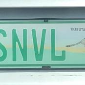 A Free State driver with his number plate that made headlines on social media