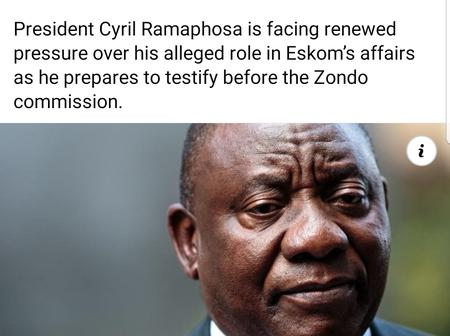 Ramaphosa Under Pressure To Account For Alleged Role In Eskom's Troubles