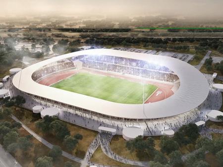 Le stade de Yamoussoukro, à l'étape de la finition : découvrez les images