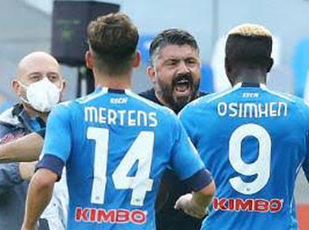 What a beautiful moment For Victor Osimhen As he Scores His First League Goal For Napoli.