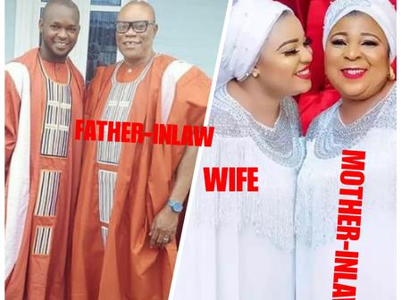 As Actor Okiki Afolayan Celebrates His Father-in-law's Birthday, Check Out His Wife And Mother-in-law