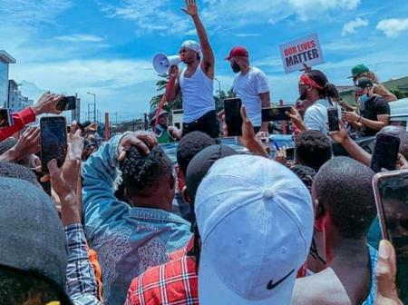 #ENDSARS: See 20 Lovely Photos From The 'ENDSARS' Protest Led By Runtown, Falz And Paul Psquare.