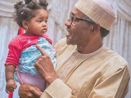 10 Lovely Photos That Reveal President Buhari's Soft Spot For Children