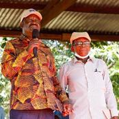 Raila Spent Good time with his former Prison Guard while in Detention